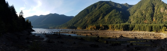 Sunrise on Lake Cushman