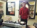 Aaron making chapati