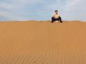 Aaron on sand dune