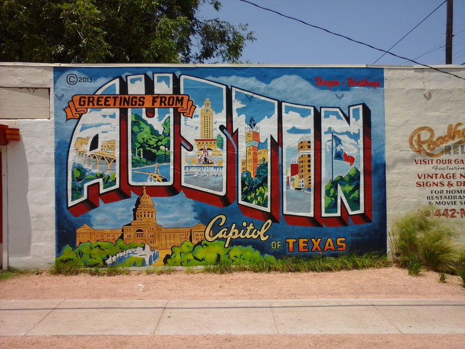 Pictures from my travels the world as seen without fear for Austin mural location