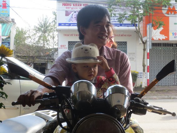 Awesome kid on a motorcycle