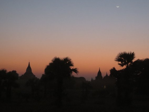 Sunset in Bagan the second day