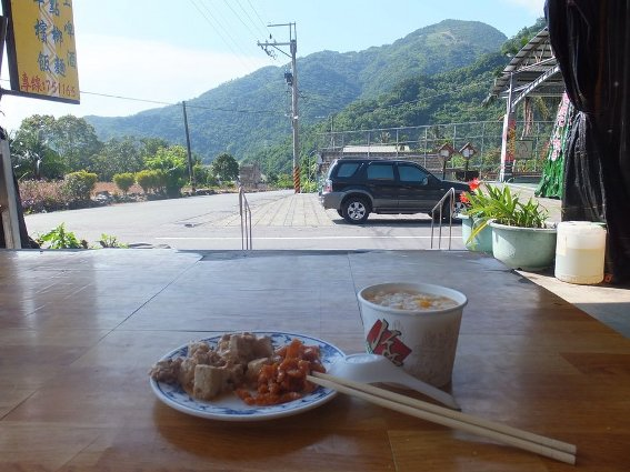 Breakfast in a peaceful Taiwanese village