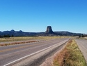 Devils tower from afar