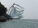 Fishing nets off fort kochi