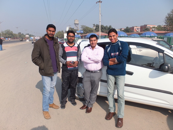 Four guys that gave me a lift out of Amritsar