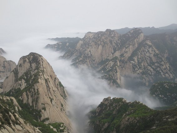 Huashan from the east peak