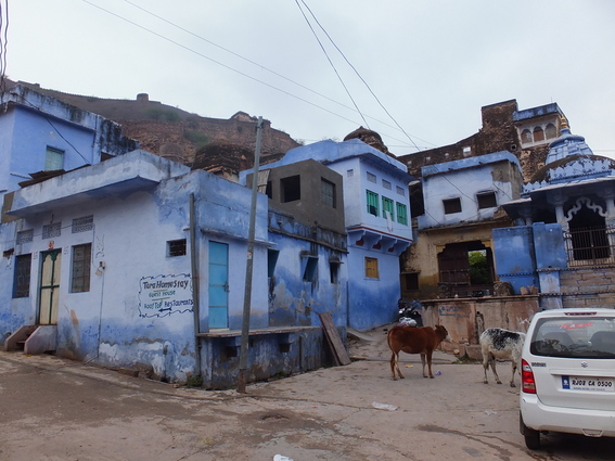 Indigo houses in Bundi