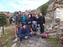 Large trekking group
