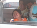Laughing mongolian girl