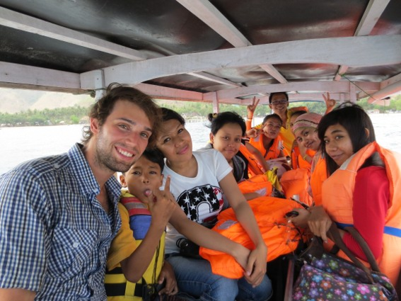 Christian, his co-workers and I headed to Gili Nanggu