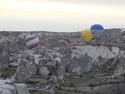 Low flying hot air balloons