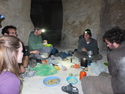 Making dinner in the cave