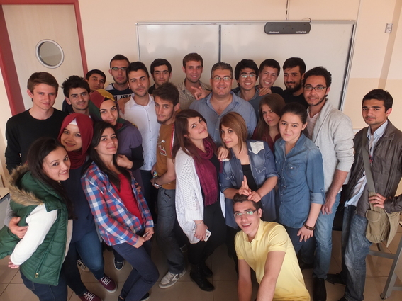 Me and one of the English classes at Gaziantep University