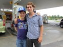 Me and my friend/guide/host Loon in Penang in the gas station he dropped me off at to hitchhike up to Langkawi from.