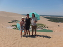 Me and my chinese friends on sand dune