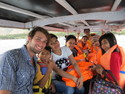 Me and the lombok crew on a boat to gili nanggu