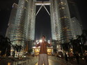 Me at petronas towers at night