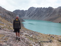 Me by mountain top lake at karakol