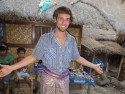 Me dressed up like a traditional lombok villager