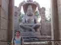 Me in front of the laxmi narishma temple
