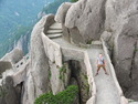 Me on huangshan stone bridge