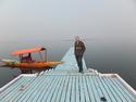 Me on the eerie island pier