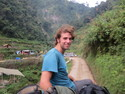 Me on the roof of a jeepney on the way from batad to banaue