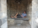 Me reclining in prambanan temple