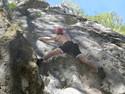Me rock climbing