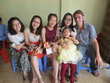 Me thao her sister and some other relatives