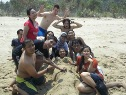 Merman on sawarna beach