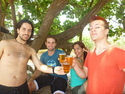 Miguel vina beau and email toasting at sawarna
