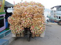 Motor bike with lots of krupuk