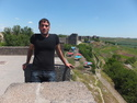 My host atop the diyarbakir wall