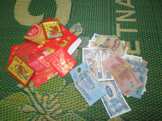 All the lucky money I received for Tet