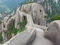 Path down from huangshan peak