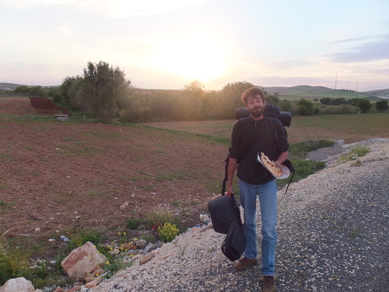 Roving French minstrel I met hitchhiking to Nemrut