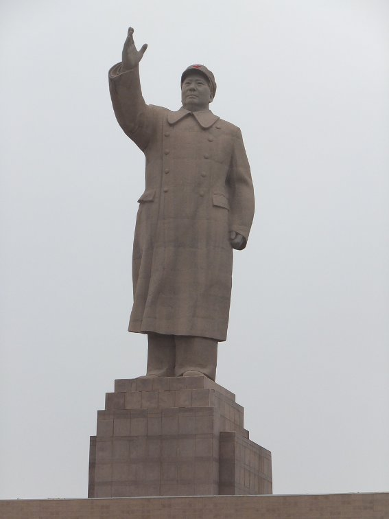 Large statue of Mao in China's politically tense Kashgar