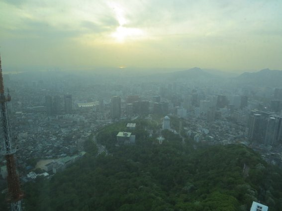 Seoul as seen from Namsan Tower