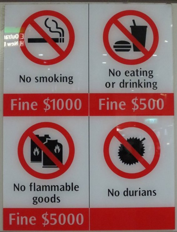 Singapore metro restrictions