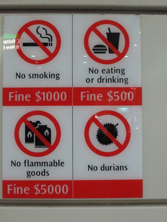 I don't want to know what the punishment for bringing durian on a Singapore subway is...