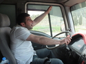 Singing truck driver