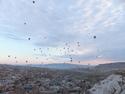 Sky full of hot air balloons