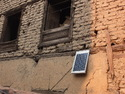 Solar pannel on mud and brick building