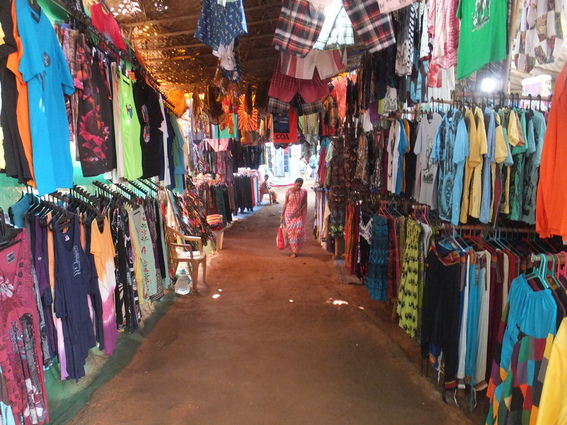 Stalls at Arambol beach
