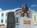 Statue in front of murun wrestling staduim