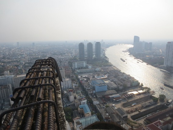 View of Bangkok from the very top of the top of an abandon skyscraper