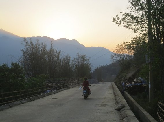 Sundown just below Sapa