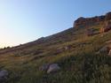 Sunset on bluff over mardin